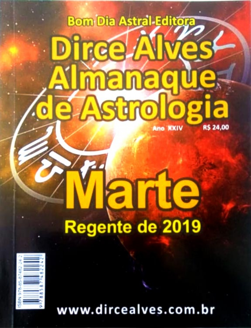 Almanaque de Astrologia 2019 - Dirce Alves - Marte